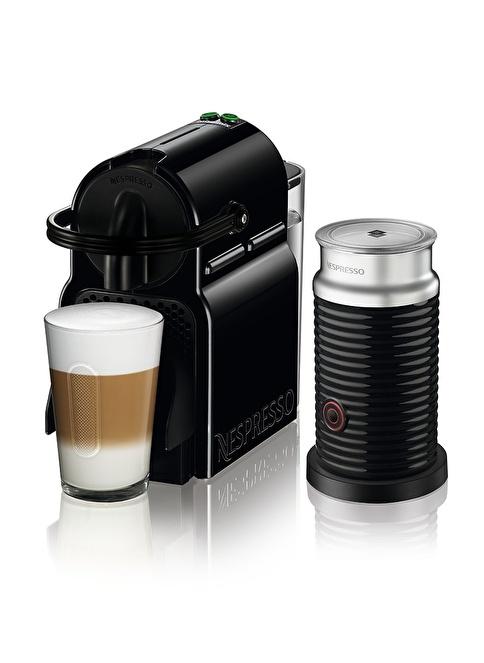 Nespresso Inissia Bundle D45 Black &Aero3 Siyah